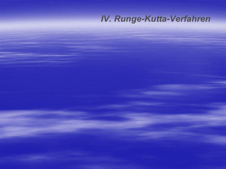 IV. Runge-Kutta-Verfahren