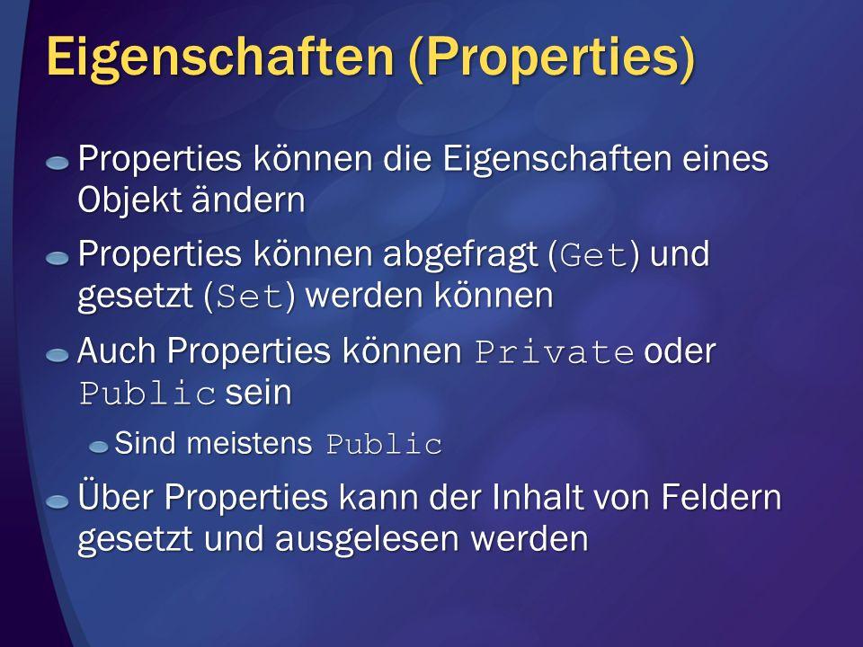 Eigenschaften (Properties)