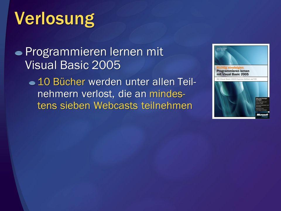 Verlosung Programmieren lernen mit Visual Basic 2005
