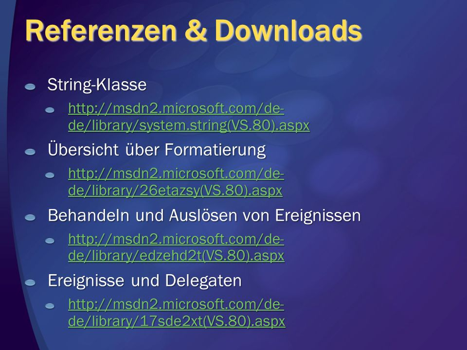 Referenzen & Downloads