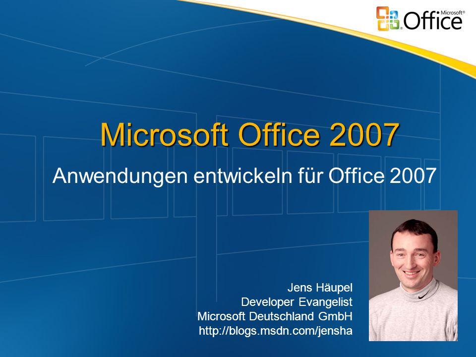 Anwendungen entwickeln für Office 2007
