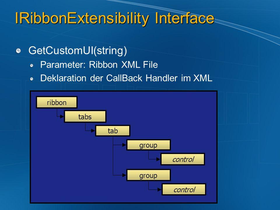 IRibbonExtensibility Interface