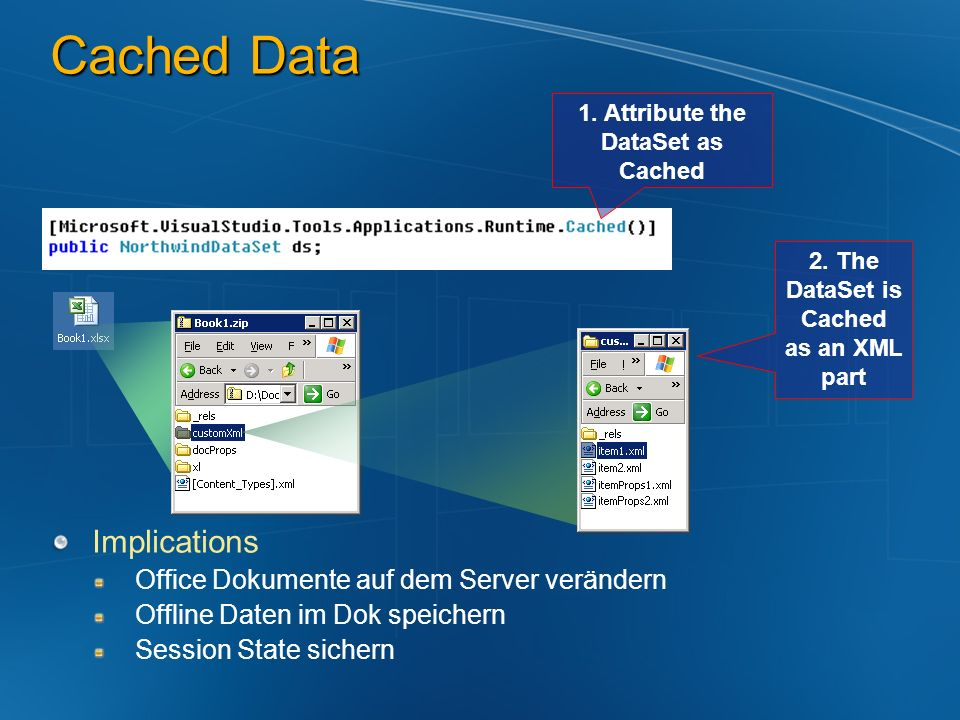 Cached Data Implications Office Dokumente auf dem Server verändern