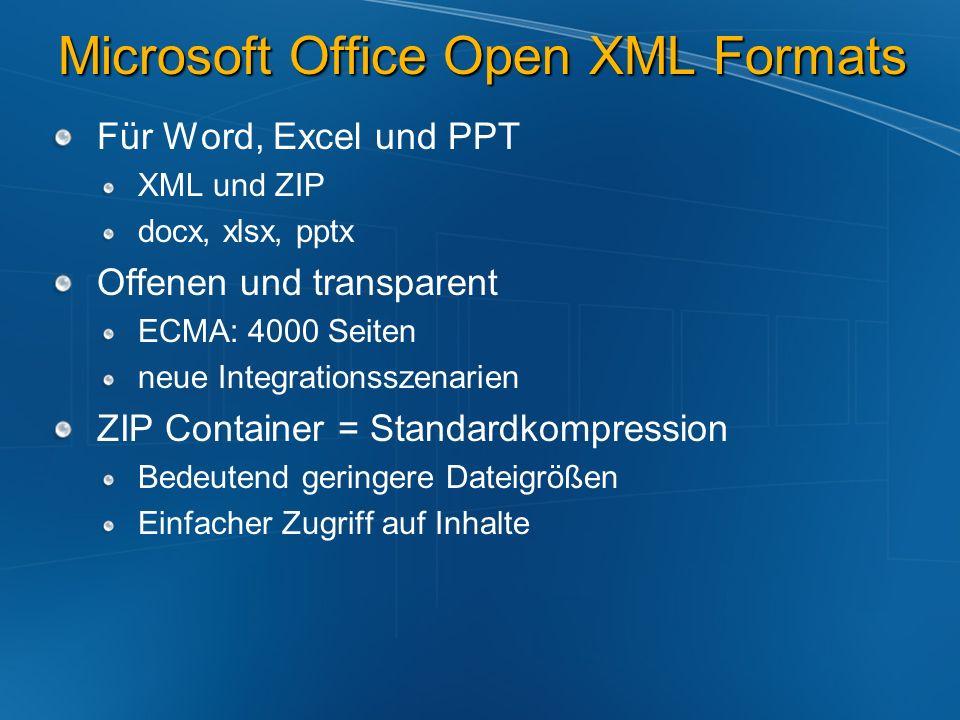 Microsoft Office Open XML Formats