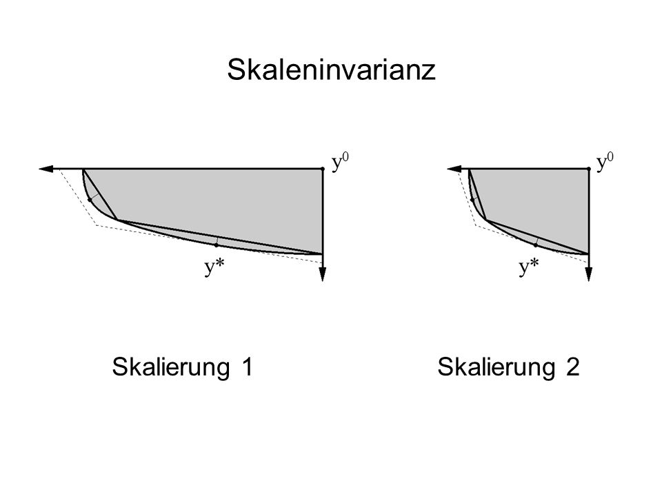Skaleninvarianz y0 y0 y* y* Skalierung 1 Skalierung 2