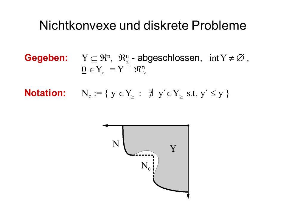 Nichtkonvexe und diskrete Probleme