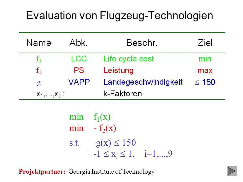 Evaluation von Flugzeug-Technologien