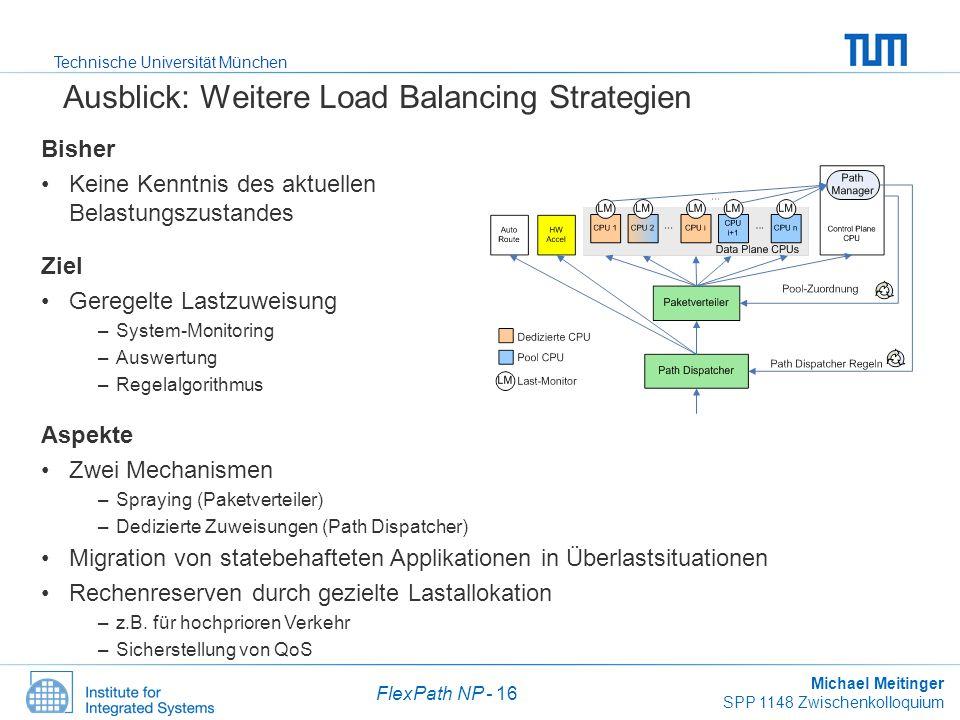 Ausblick: Weitere Load Balancing Strategien