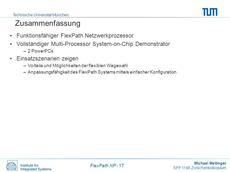 Zusammenfassung Funktionsfähiger FlexPath Netzwerkprozessor