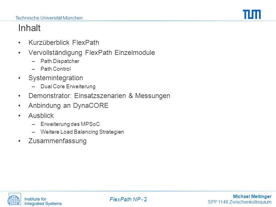 Inhalt Kurzüberblick FlexPath Vervollständigung FlexPath Einzelmodule