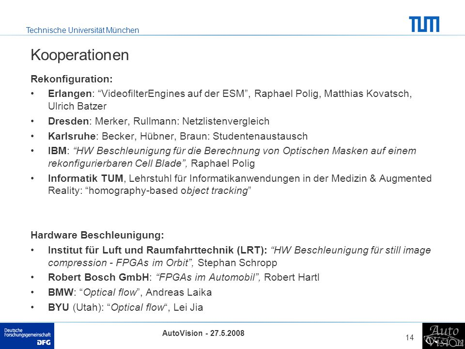 Kooperationen Rekonfiguration: