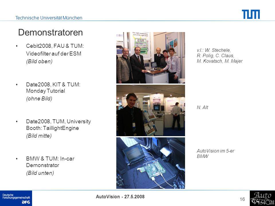 Demonstratoren Cebit2008, FAU & TUM: Videofilter auf der ESM