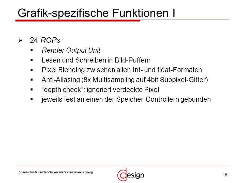 Grafik-spezifische Funktionen I