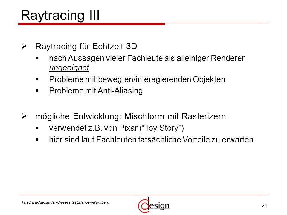 Raytracing III Raytracing für Echtzeit-3D