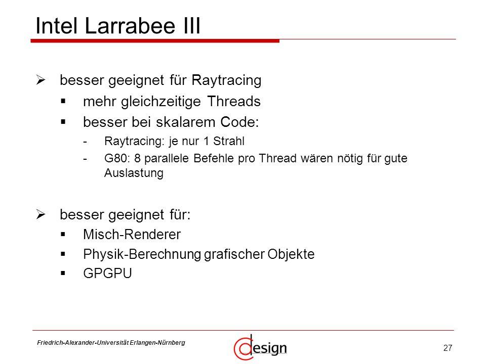 Intel Larrabee III besser geeignet für Raytracing