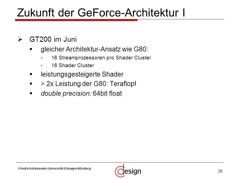 Zukunft der GeForce-Architektur I