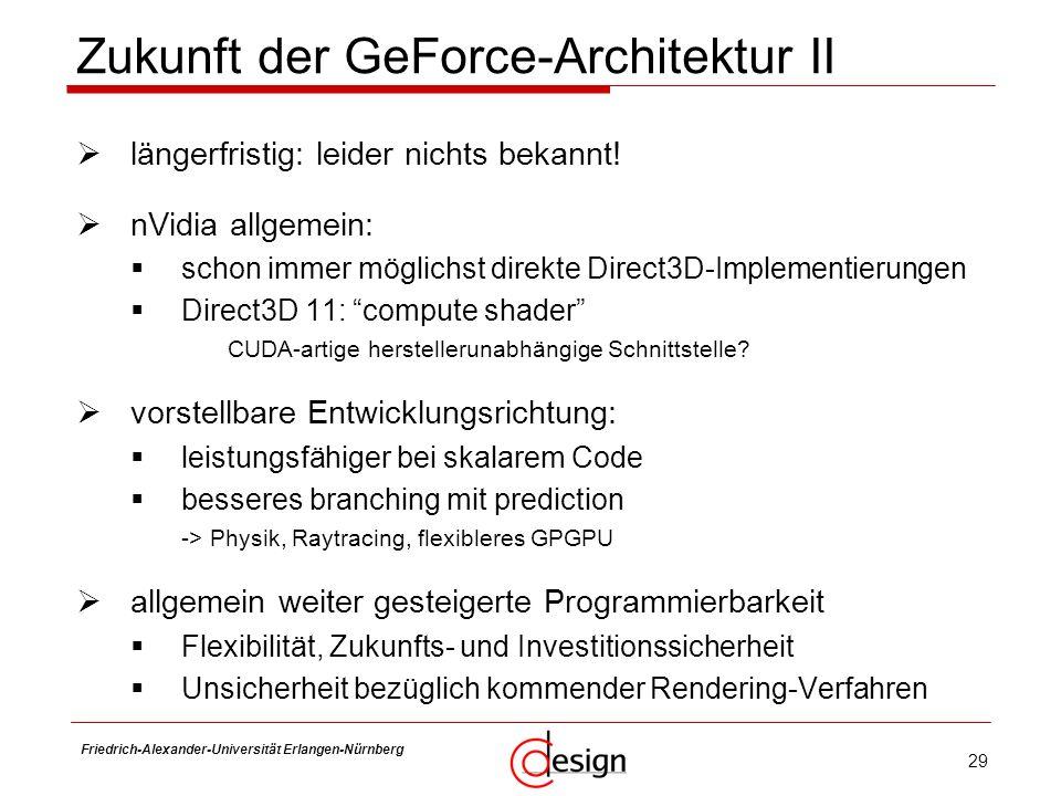 Zukunft der GeForce-Architektur II