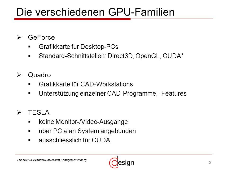 Die verschiedenen GPU-Familien