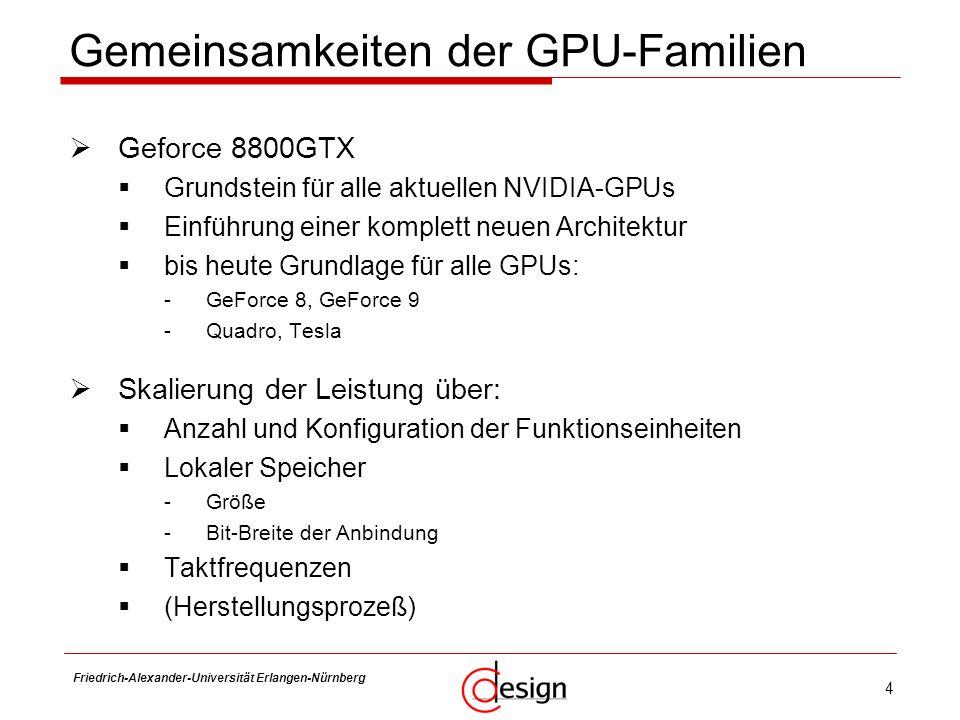Gemeinsamkeiten der GPU-Familien