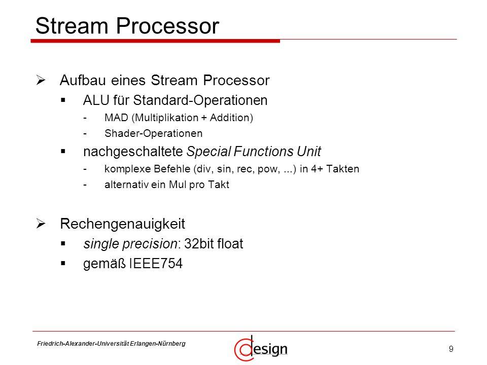Stream Processor Aufbau eines Stream Processor Rechengenauigkeit