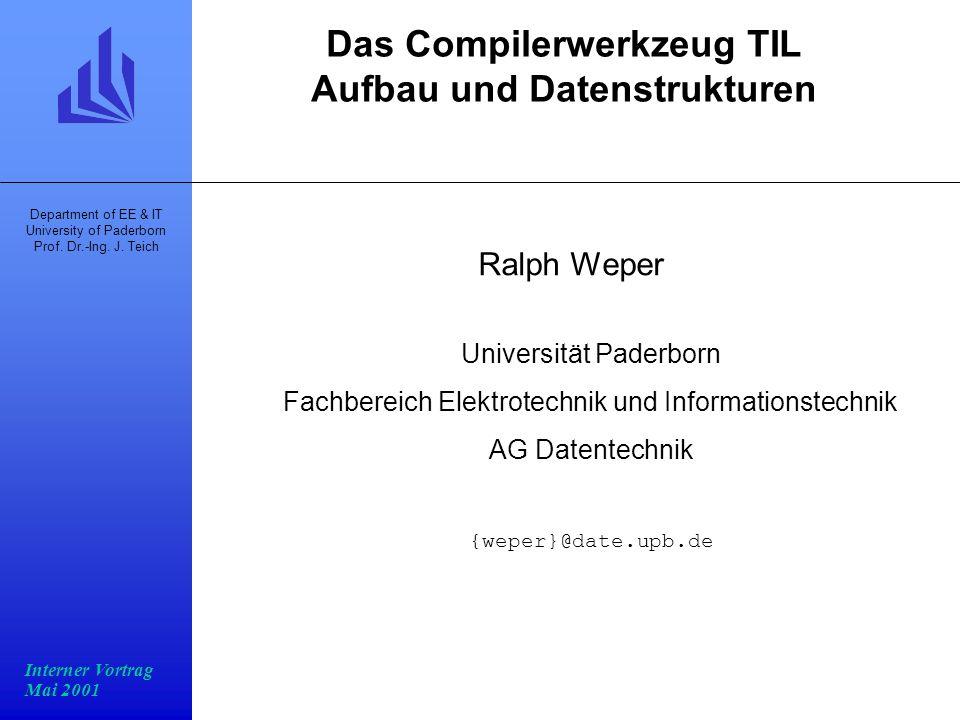 Das Compilerwerkzeug TIL Aufbau und Datenstrukturen
