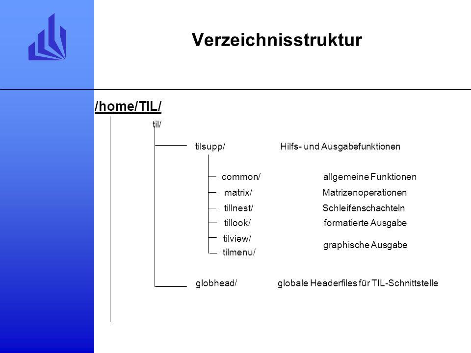 Verzeichnisstruktur /home/TIL/ til/ tilsupp/