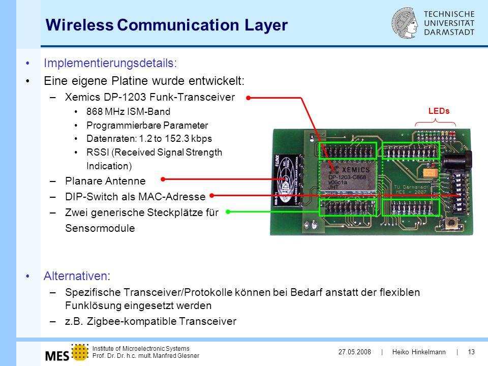 Wireless Communication Layer