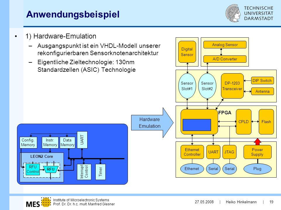 Anwendungsbeispiel 1) Hardware-Emulation