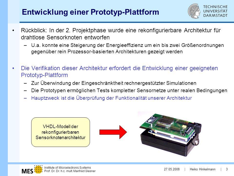 Entwicklung einer Prototyp-Plattform