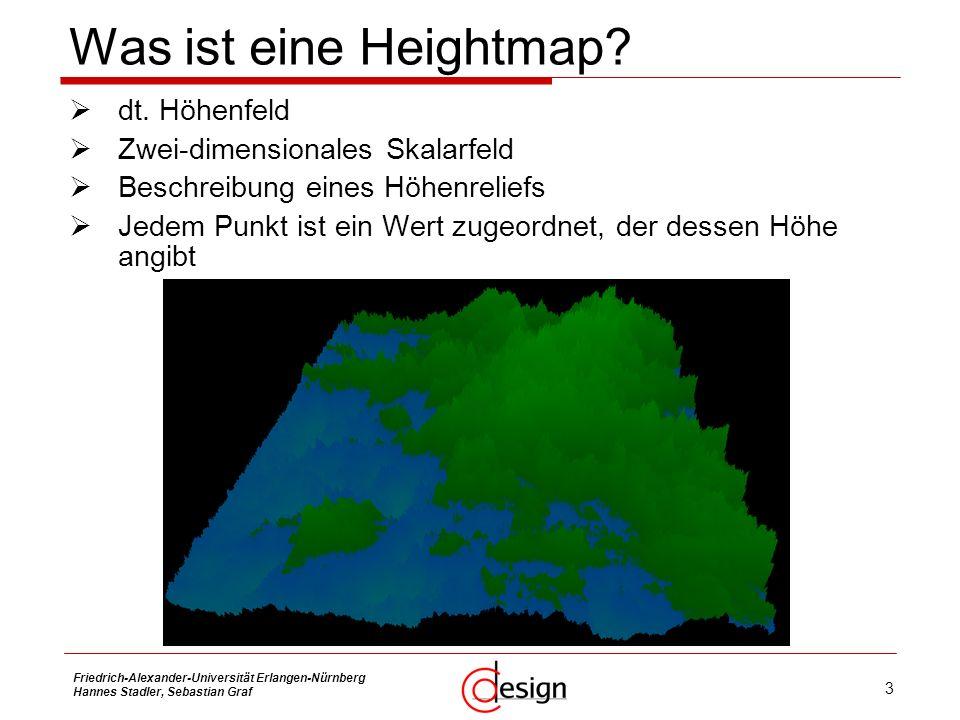 Was ist eine Heightmap dt. Höhenfeld Zwei-dimensionales Skalarfeld