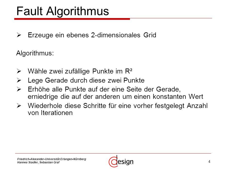 Fault Algorithmus Erzeuge ein ebenes 2-dimensionales Grid Algorithmus:
