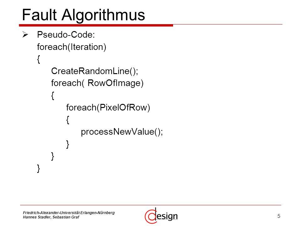 Fault Algorithmus Pseudo-Code: foreach(Iteration) {