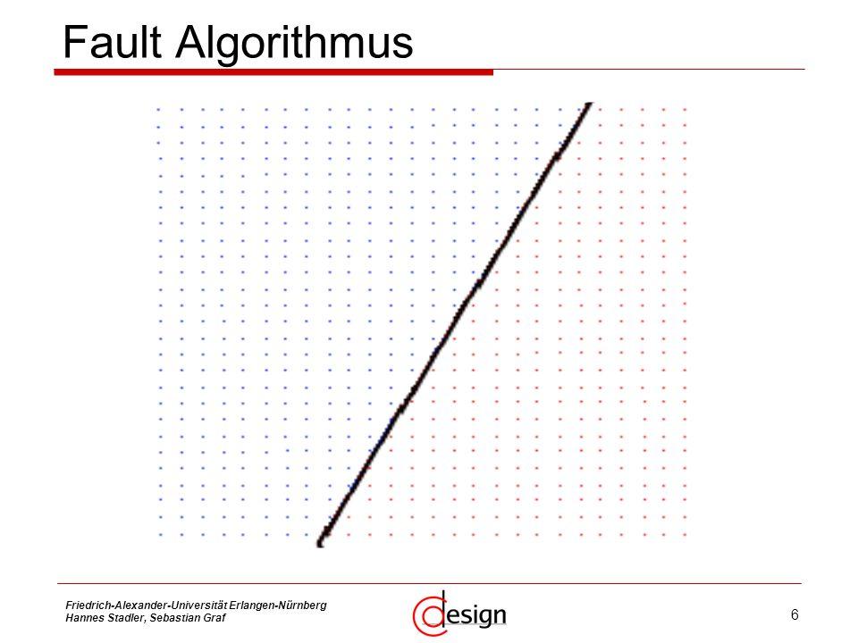 Fault Algorithmus Friedrich-Alexander-Universität Erlangen-Nürnberg