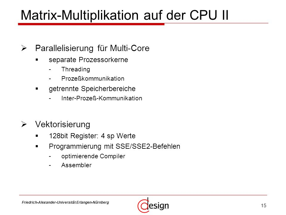 Matrix-Multiplikation auf der CPU II