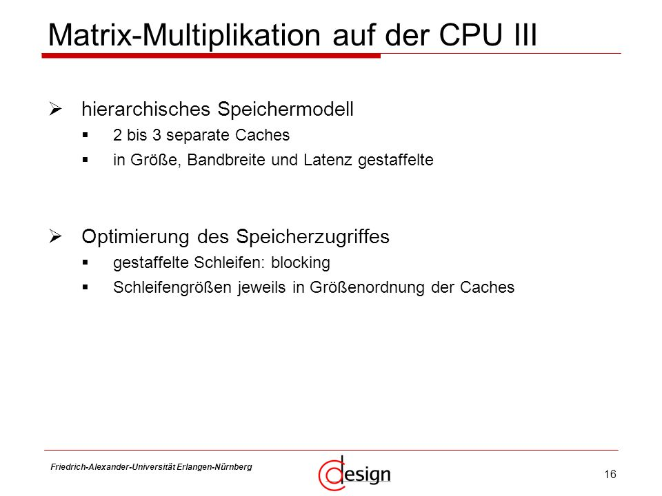 Matrix-Multiplikation auf der CPU III