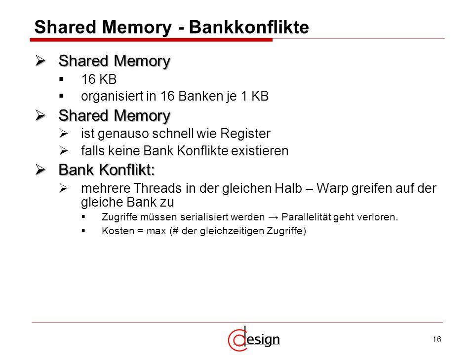 Shared Memory - Bankkonflikte
