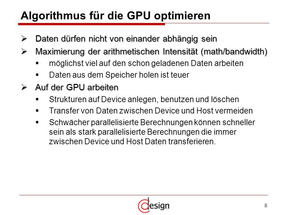 Algorithmus für die GPU optimieren
