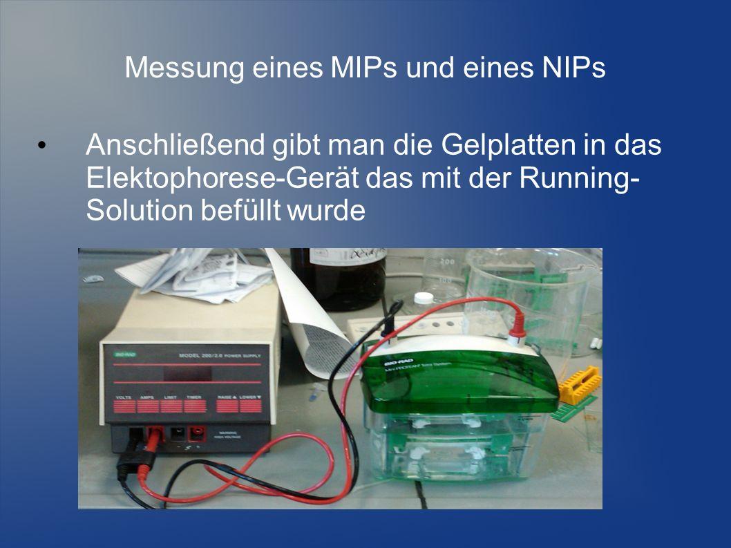 Messung eines MIPs und eines NIPs