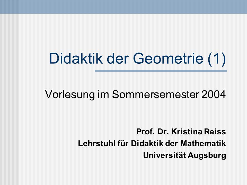 Didaktik der Geometrie (1)
