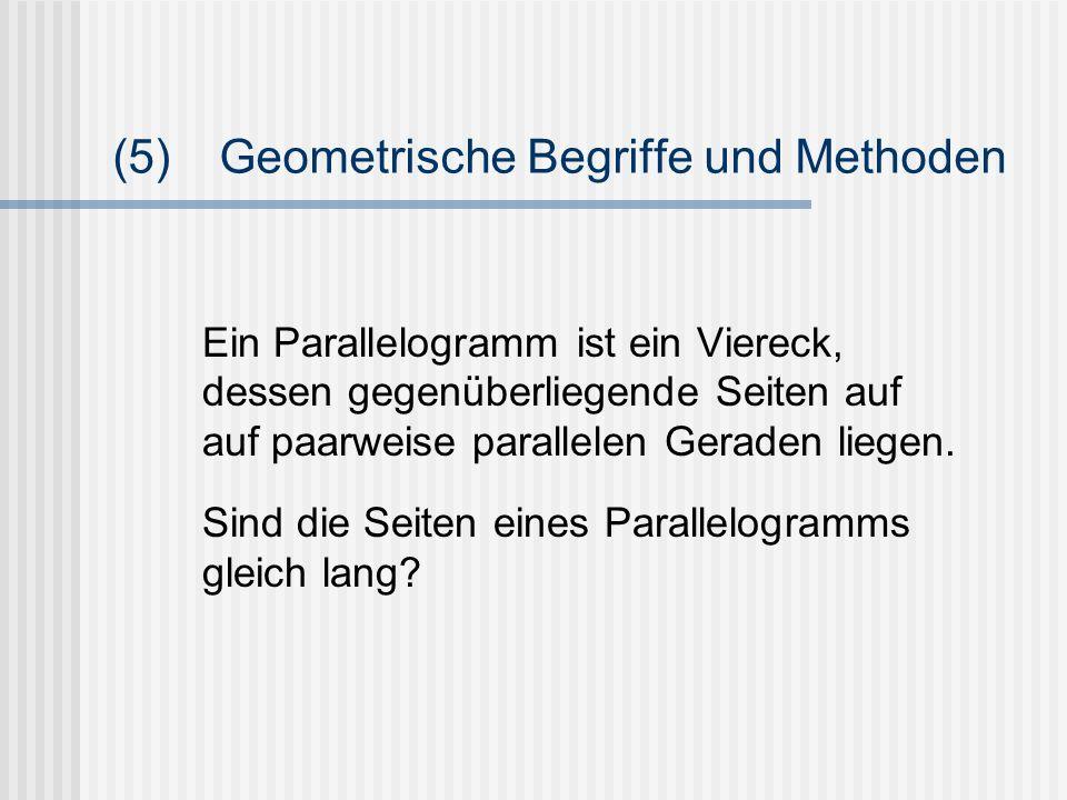 (5) Geometrische Begriffe und Methoden