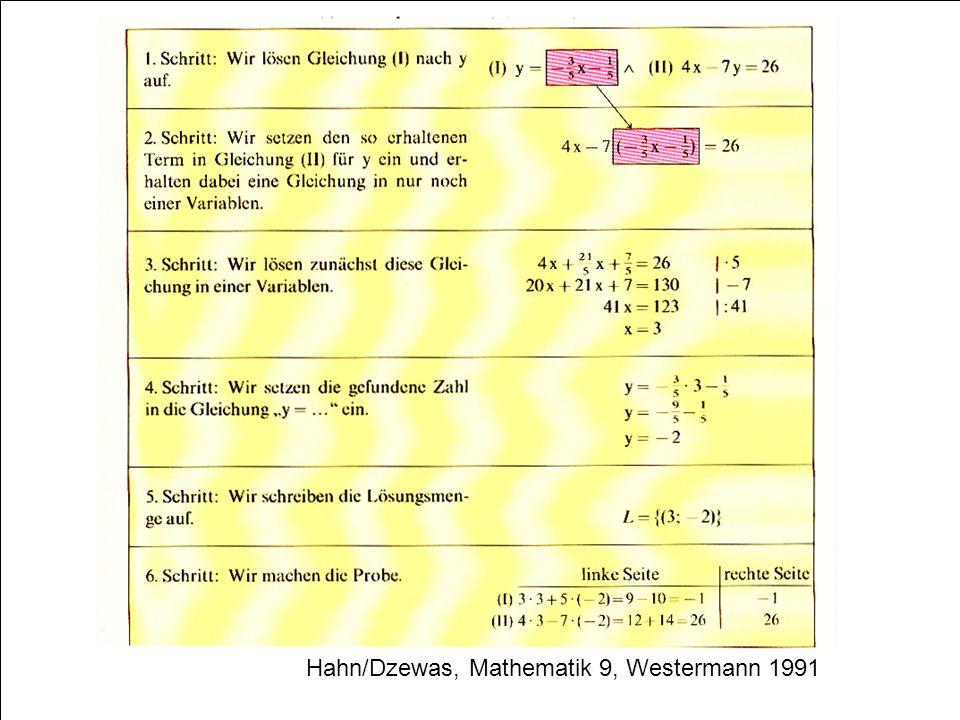 Hahn/Dzewas, Mathematik 9, Westermann 1991