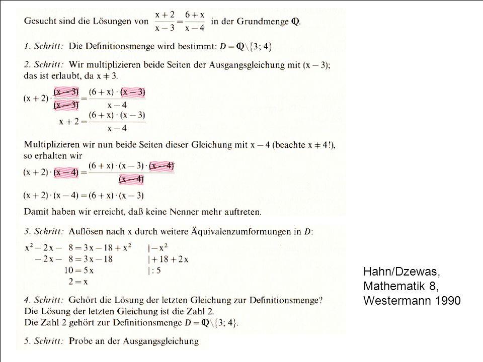 Hahn/Dzewas, Mathematik 8, Westermann 1990