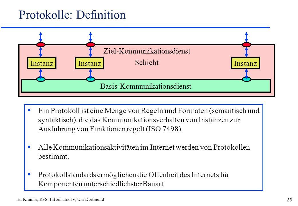 Protokolle: Definition