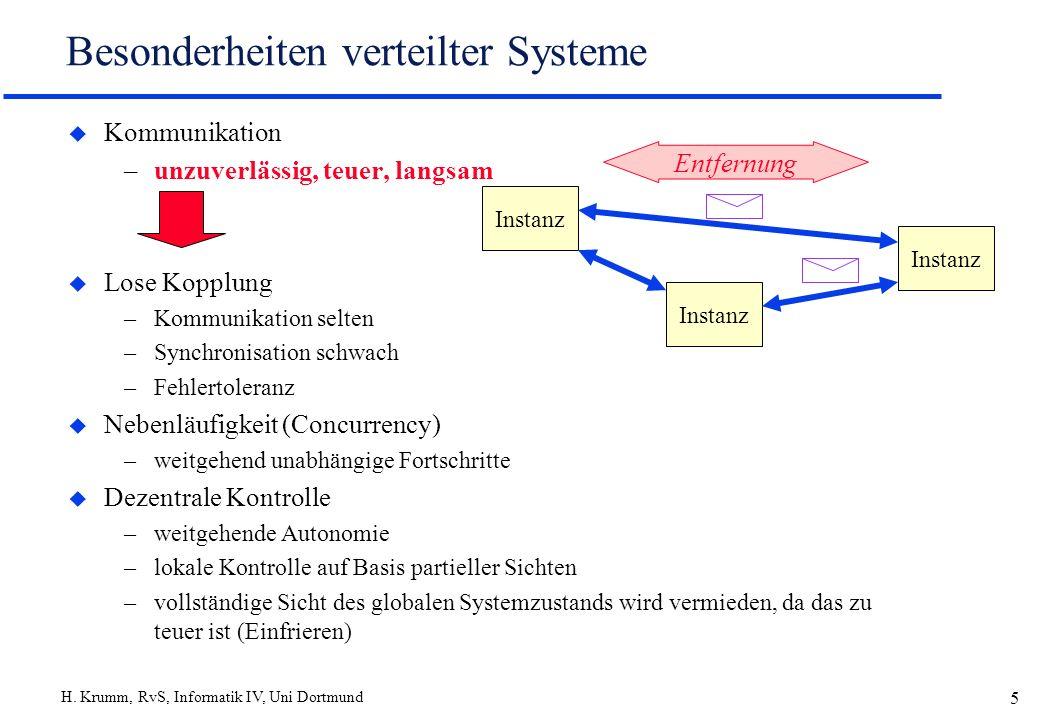 Besonderheiten verteilter Systeme