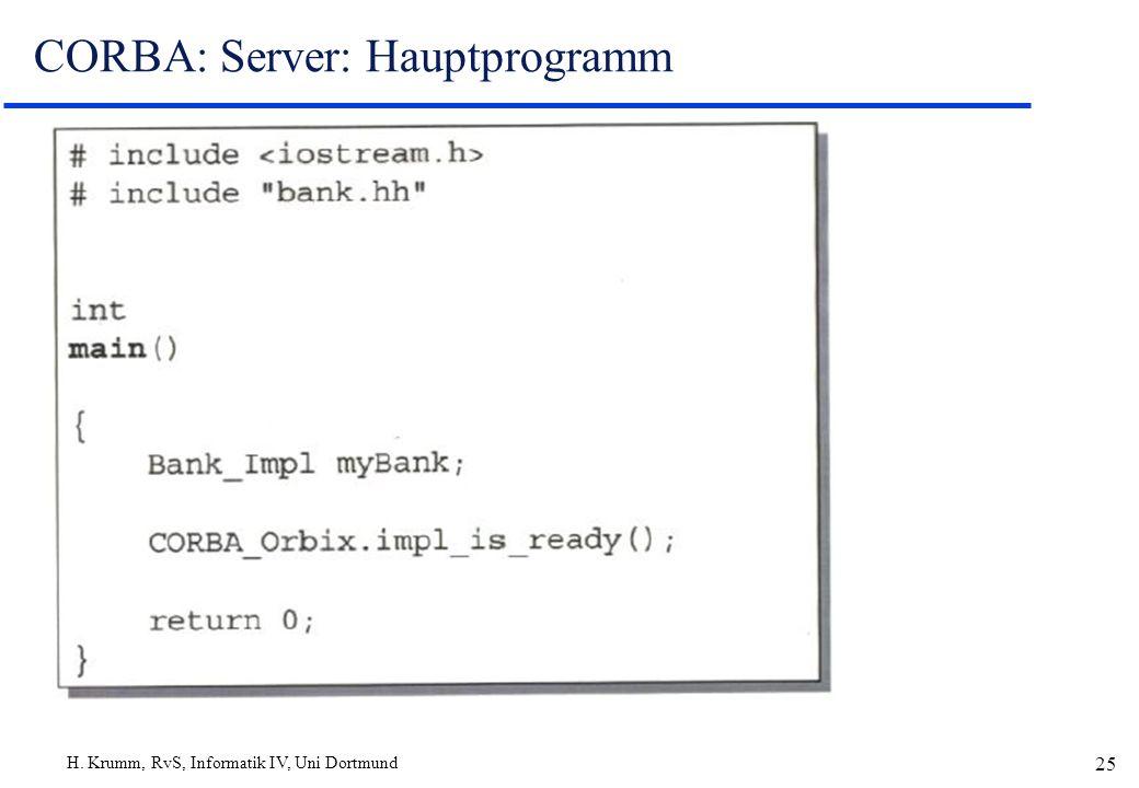 CORBA: Server: Hauptprogramm