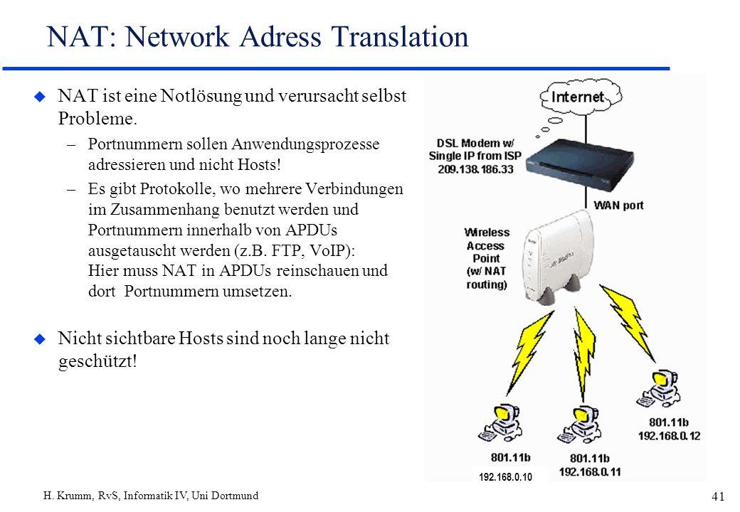NAT: Network Adress Translation