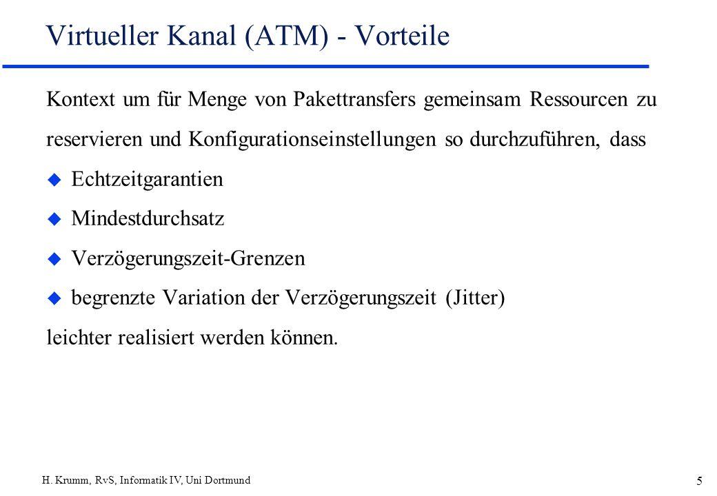 Virtueller Kanal (ATM) - Vorteile