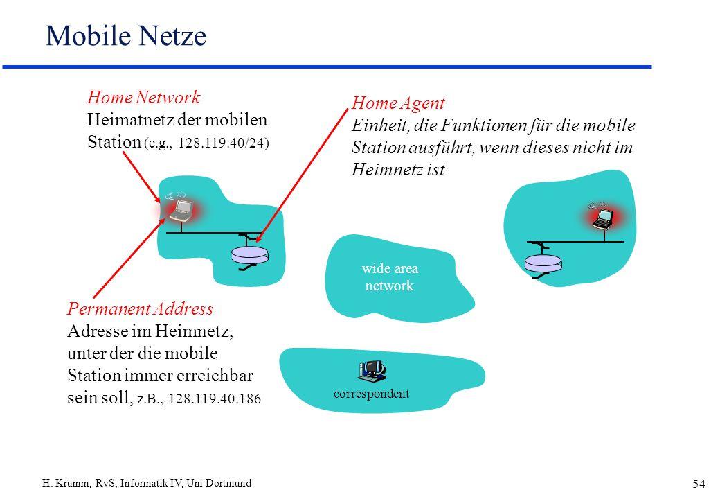 Mobile Netze Home Network Heimatnetz der mobilen Station (e.g., 128.119.40/24)
