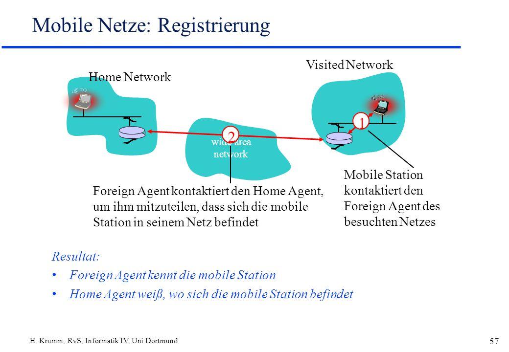 Mobile Netze: Registrierung