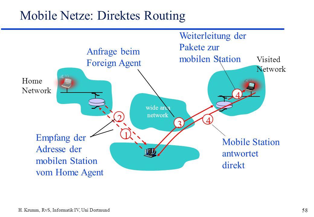 Mobile Netze: Direktes Routing